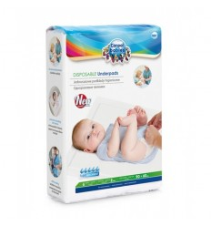 Jednorazové absorbčné hygienické podložky 90x60cm 10ks