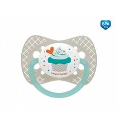 Canpol babies cumlík utišujúci Let´s Celebrate - silikón, anatomický A 0-6m modrý
