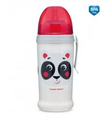 Športová fľaša netečúca Hello Little panda 350ml 12m+ béžová