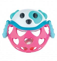 Canpol babies interaktívna hračka s hrkálkou zelený medvedík