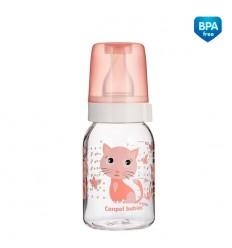 """Dojčenská fľaša """"Postavičky"""" plast - 120ml"""