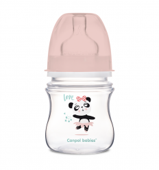 Canpol babies Dojčenská antikoliková fľaša široká EasyStart 120 ml 0m+ Exotic Animals modrá