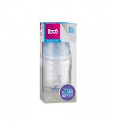 Lovi Kojenecká skleněná láhev Diamond Glass Baby Shower boy 150 ml 0m+