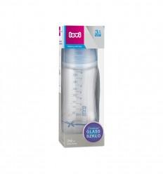 Lovi Kojenecká skleněná láhev Diamond Glass Baby Shower boy 250 ml 3m+