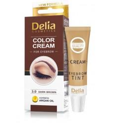 Farba na obočie Delia s arganovým olejom - tmavá hnedá
