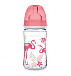 Dojčenská antikoliková fľaša široká EasyStart 120ml 0m+V oblakoch modrá