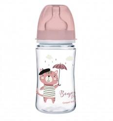 Canpol babies Dojčenská antikoliková fľaša široká EasyStart 120 ml 0m+ Royal baby modrá